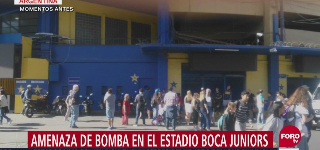 Reportan amenaza de bomba en el estadio de Boca Juniors