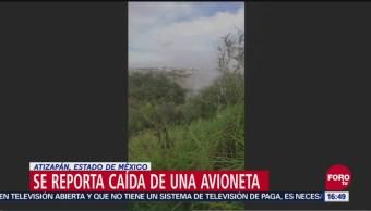 Reportan caída de avioneta en Atizapán, Estado de México