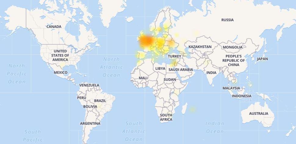 Reportan caída masiva de Facebook en Europa