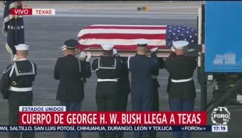 Restos de George H. W. Bush llegan a Texas