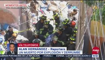 Retiran Cuerpo De Victima Por Explosión En Colonia Panamericana, Retiran Cuerpo, Victima Por Explosión En Colonia Panamericana, Hombre De 81 Años De Edad, Explosión De Un Tanque De Gas, Ciudad De México