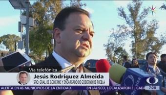 Rodríguez Almeida espera resultado que dé certeza tras percance aéreo en Puebla