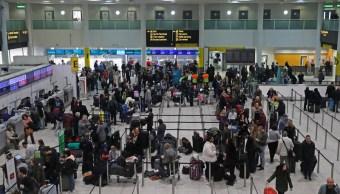uso de drones en aeropuerto de gatwick acto deliberado: policia