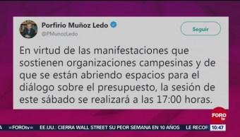 Diputados Posponen Sesión Por Manifestaciones En San Lázaro, Diputados, Posponen Sesión, Manifestaciones En San Lázaro, Porfirio Muñoz Ledo, Presidente De Cámara De Diputados