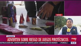 Advierten Sobre El Riesgo De Juegos Pirotécnicos En Chiapas, Riesgo De Juegos Pirotécnicos, Chiapas, Juegos Pirotécnicos