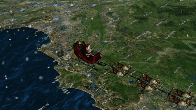 Santa inicia su recorrido por el mundo. (https://www.noradsanta.org/)
