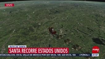 Santa Recorre El Norte Estados Unidos