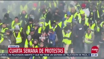 Cumplen Cuatro Semanas Protestas Violentas Francia