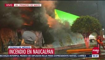 Se registra incendio en bodega de tienda de autoservicio en Naucalpan