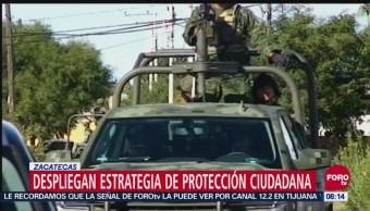Sedena implementa en Zacatecas estrategia de protección ciudadana