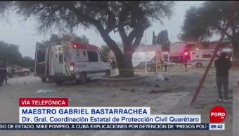 Suman 5 muertos por explosión de pirotecnia en Querétaro, confirma Protección Civil