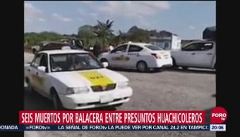 Tabasco Seis Muertos Balacera Presuntos Huachicoleros