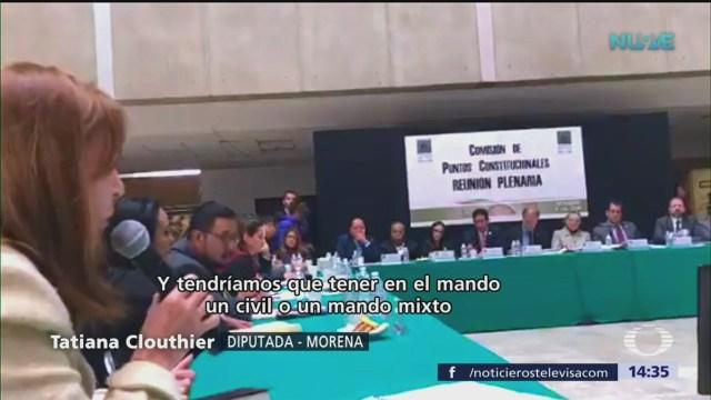 Tatiana Clouthier habla de desmilitarizar el país
