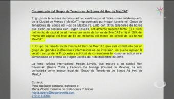 Tenedores Bonos Naim No Aceptan Propuesta Gobierno Federal