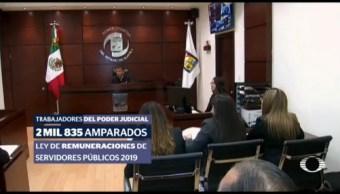 Trabajadores Poder Judicial Presentan Amparo Ley Remuneraciones