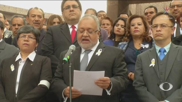 Trabajadores Poder Judicial Rechazan Haya Salarios 600 Mil Pesos