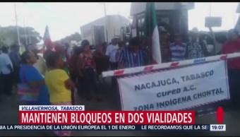 Trabajadores Gobierno Realizan Bloqueos Villahermosa Tabasco