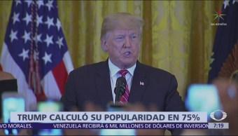 Trump afirma que tendría apoyo de 75% sin Rusiagate