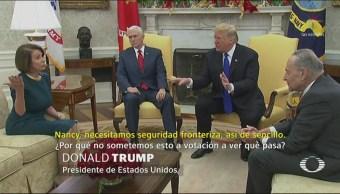 Trump Discute Senadores Representantes Por El Muro