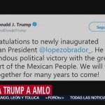 Trump felicita a AMLO por su 'tremenda victoria política'