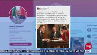 Trump y AMLO acordaron afrontar inseguridad en Centroamérica