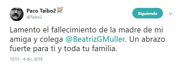 Muere la madre de Beatriz Gutiérrez Müller