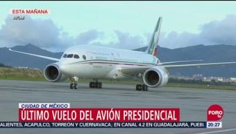 Último Vuelo Del Avión Presidencial México