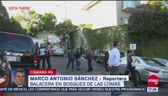 Un muerto por balacera en Bosques de Las Lomas