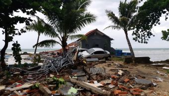 Video Momento en que tsunami arrasa concierto en Indonesia