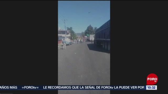 18 detenidos para liberar carretera Pátzcuaro-Santa Clara del Cobre