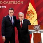 foto Pedro Sánchez amlo palacio nacional 30 enero 2019