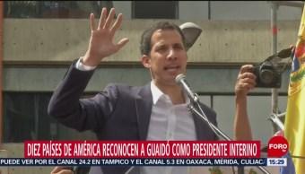 Nueve países de américa respaldan a Juan Guaidó