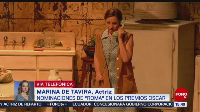 Marina de Tavira, contenta por nominación al Oscar