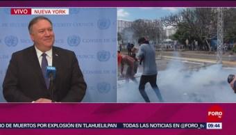 Foto, 26 enero 2019, Acatamos una solución pacífica en Venezuela: Mike Pompeo