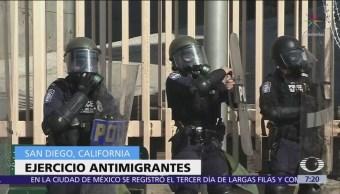 Agentes fronterizos realizan nuevo ejercicio antimigrantes en San Diego