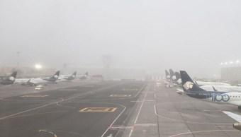 ICM suspende operaciones por banco de niebla