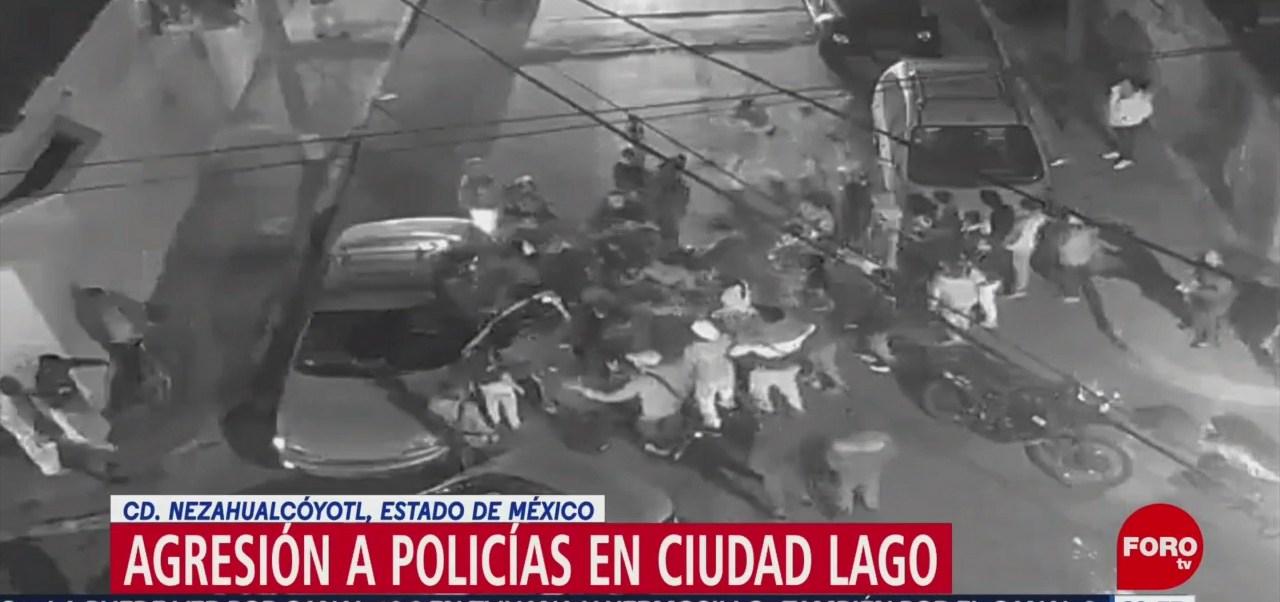 Foto: Vecinos Agreden Policías Nezahualcóyotl 28 de Enero 2019