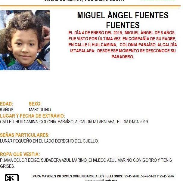 Alerta Amber: Ayuda a localizar Miguel Ángel Fuentes Fuentes