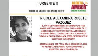 Alerta Amber para localizar a Nicole Alexandr