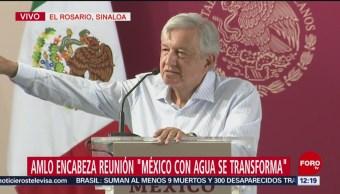 Foto, AMLO anuncia plan de desarrollo para el sur de Sinaloa, 26 enero 2019,