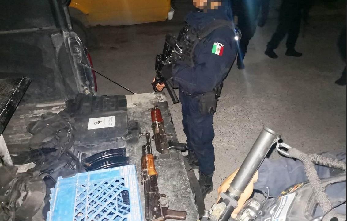 Foto: aseguran armas en Reynosa, Tamaulipas, 23 de enero 2019