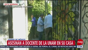 Asesinan a profesor de la UNAM en su casa
