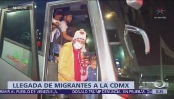 Así llegó nuevo contingente de la caravana migrante a CDMX