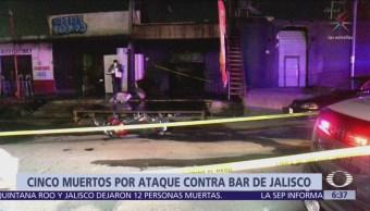 Ataque contra un bar de Jalisco deja cinco muertos