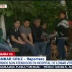 Atienden a heridos por explosión en Hidalgo en hospitales del Valle de México