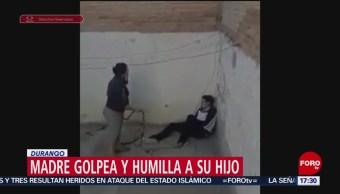 Autoridades resguardan a menor golpeado por su madre
