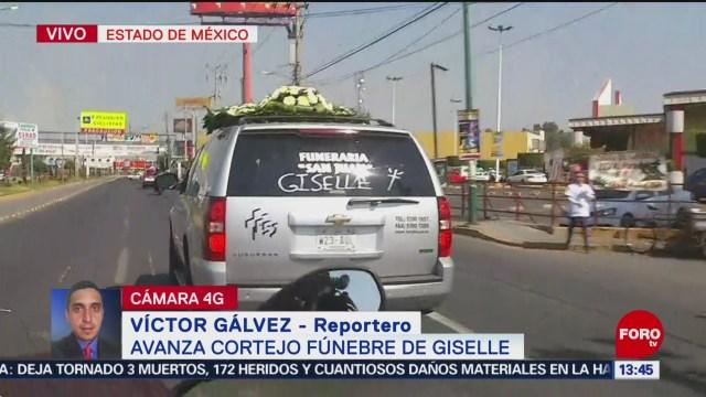 FOTO: Avanza cortejo fúnebre de Giselle en el Estado de México, 28 enero2019