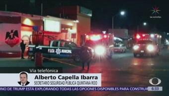 Balacera en Playa del Carmen tendría que ver con narcomenudeo: Alberto Capella