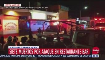 Balacera en restaurante de Playa del Carmen; hay varios muertos