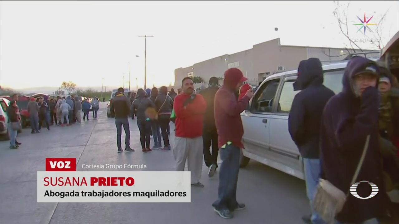 Foto: Bloquean Acceso Empleados Maquiladoras Matamoros 29 de Enero 209